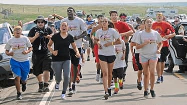 Standing Rock Indigenous Youth Run to Washington DC in 2017, sparked a huge environmental movement.